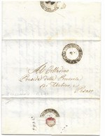REPUBBLICA ROMANA - DA SAN LORENZO IN CAMPO A PESARO - 15.4.1849. - ...-1850 Voorfilatelie