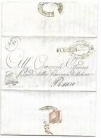 REPUBBLICA ROMANA - DA FOSSOMBRONE A PESARO - 22.5.1849. - ...-1850 Voorfilatelie