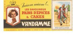 Buvard VANDAMME Images Des Rois De France N°14 - Peperkoeken