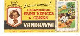 Buvard VANDAMME Images Des Rois De France N°3 - Peperkoeken