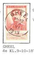 REF219/ TP 118 Pellens Coba T2 R C.Gheel 11-12/28/VI/1913 - 1912 Pellens