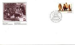 CANADA. N°1144 De 1990 Sur Enveloppe 1er Jour. Poupée Canadienne. - Poupées