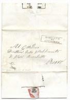 REPUBBLICA ROMANA - DA GINESTRETO A PESARO - 11.3.1849. - ...-1850 Voorfilatelie