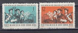 Vietnam Nord 1972 - 3rd National Trade Union Congress, Mi-Nr. 689/90, MNH** - Vietnam