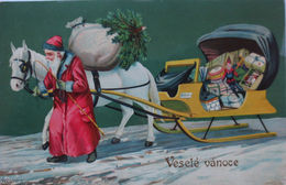 """""""Weihnachten, Weihnachtsmann, Spielzeug, Schlitten"""" 1905 ♥ (10477) - Santa Claus"""