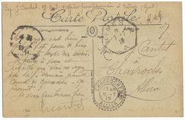 FM RAG = REMIS AU GUICHETGARD CP 1919 CP FM RECETTE AUXILIAIRE URBAINE DE NIMES A - Poststempel (Briefe)
