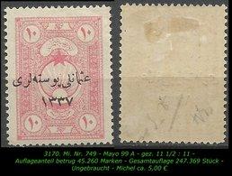 TURKEY ,EARLY OTTOMAN SPECIALIZED FOR SPECIALIST, SEE.. Mi. Nr. 749 - Mayo 99 A - 1920-21 Anatolia