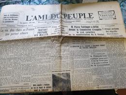 L AMI DU PEUPLE /VIE CHERE EN FRANCE /BARBIZON TROTSKY /TAITTINGER MANIFESTATION 6 FEVRIER /VIVASPORT - Journaux - Quotidiens