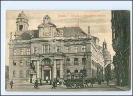 XX008421-01./ Dresden Ständehaus Mit König Albert-Denkmal Pfederbahn AK - Dresden