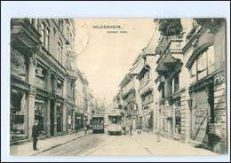 XX008402/ Hildesheim Hoher Weg Straßenbahn 1913 AK - Germania