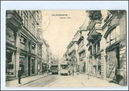 XX008402/ Hildesheim Hoher Weg Straßenbahn 1913 AK - Unclassified