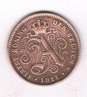 1 CENTIMES 1911 VL    BELGIE /188/ - 1909-1934: Albert I