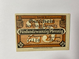 Allemagne Notgeld Liegnitz 25 Pfennig - [ 3] 1918-1933 : République De Weimar