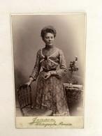 Renaix 1900 - Photo Cartonnée De Femme Par Jensen - - Personnes Anonymes