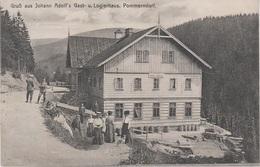 AK Pommerndorf Strazne Johann Adolf Gasthof Logierhaus Baude Riesengebirge A Hohenelbe Vrchlabi Niederhof Hackelsdorf - Sudeten