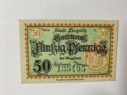 Allemagne Notgeld Liegnitz 50 Pfennig - [ 3] 1918-1933 : République De Weimar