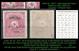 TURKEY ,EARLY OTTOMAN SPECIALIZED FOR SPECIALIST, SEE.. Mi. Nr. 724 - Mayo 64 G -RR- - 1920-21 Anatolië