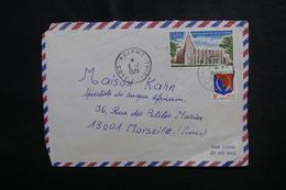 CÔTE D'IVOIRE - Enveloppe De Adjamé Pour Marseille En 1974, Affranchissement Plaisant - L 50080 - Côte D'Ivoire (1960-...)
