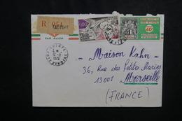 CÔTE D'IVOIRE - Enveloppe En Recommandé De Adzope Pour Marseille En 1973, Affranchissement Plaisant - L 50081 - Côte D'Ivoire (1960-...)