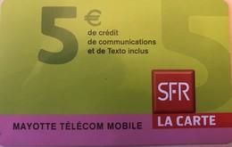 REUNION - MAYOTTE - Recharge SFR La Carte - 5 Euros - Riunione