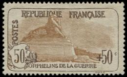 FRANCE Poste * - 153, 50+50c. Orphelins - Cote: 300 - France