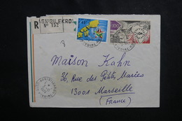 CÔTE D'IVOIRE - Enveloppe En Recommandé De Agnibilekrou Pour Marseille En 1974, Affranchissement Plaisant - L 50083 - Côte D'Ivoire (1960-...)