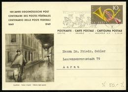 SCHWEIZ 1949 GS 100 JAHRE EIDGENÖSS POST MIT MAS-STPL TEXT DER ÄRZTESCHAFT BADEN - Ganzsachen