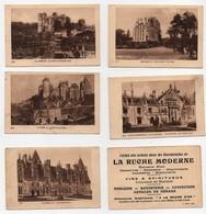 CHROMO Image La Ruche Moderne Duffit Château De Kériolet Concarneau Brissac Josselin Vitré Clisson (5 Chromos) - Andere