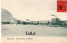 MAURICE : Île Maurice Port Louis Signal Mountain And Wharf  ( Train , Grue De Déchargement De Wagons ) - Mauritius