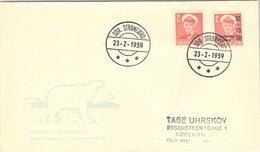 GROENLAND - GRONLAND - COVER 23.2.1959  / 1 - Briefe U. Dokumente
