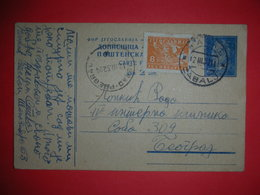 R,Yugoslavia FNRJ,postal Stationery,railway Stamp Beograd-Pregrad,train Seal,ambulant Post,vintage Postcard - Interi Postali
