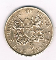 5  CENTS 1967  KENIA /197/ - Kenia