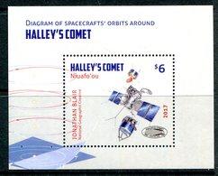 Niuafo'Ou - Tonga 2017 Halley's Comet MS MNH - Tonga (1970-...)