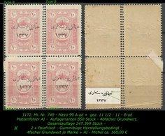 TURKEY ,EARLY OTTOMAN SPECIALIZED FOR SPECIALIST, SEE.. Mi. Nr. 749 - Mayo 99  A Qd + 99 B Qd - 1920-21 Anatolië