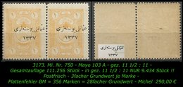 TURKEY ,EARLY OTTOMAN SPECIALIZED FOR SPECIALIST, SEE.. Mi. Nr. 750 - Mayo 103 A -RR- - 1920-21 Anatolië