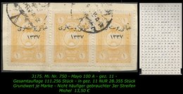 TURKEY ,EARLY OTTOMAN SPECIALIZED FOR SPECIALIST, SEE.. Mi. Nr. 750 - Mayo 100 A - 1920-21 Anatolië