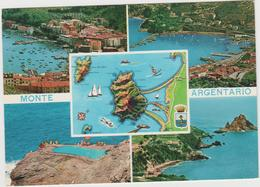8545.  Monte Argentario - Mappa Carta Geografica - 1971 - FG - VF - Vedutine - Italia