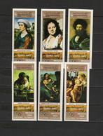 Yemen Arab Republic 1969 Paintings Raphael - Raffael, Da Vinci, Vermeer Etc. Set Of 6 Imperf. Golden Background MNH - Art