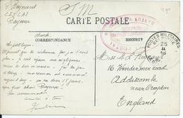 Zichtkaart (1916) Bayeux Verstuurd Van CISLA I Te Bayeux Naar Engeland - Nevenstempel Van CISLA I - Guerre 14-18