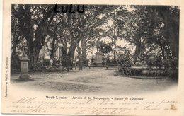 MAURICE : Précurseur Île Maurice Port Louis Jardin De La Compagnie Statue De D Epinay - Mauritius
