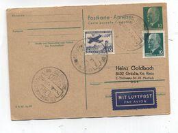 Chile Germany ANTARCTIC AIRMAIL POSTAL CARD 1966 - Postzegels
