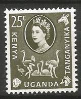 Kenya-Uganda-Tanganyika - MH 1960 - Common Ostrich (Struthio Camelus ) - Straussen- Und Laufvögel