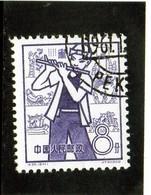 B -  1959 Cina - Flautista - 1949 - ... République Populaire