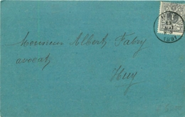 Belgique.  TP 43  Impr. Huy > Huy 1891  Association Libérale De Huy - 1869-1888 León Acostado