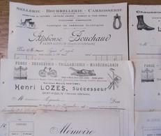 Lot 13 Factures De Diverses Entreprises Situées à Saint Aigulin (charente Inférieure) Années 20 - 1900 – 1949