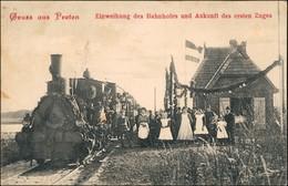 Preten Neuhaus Einweihung Bahnhof Ankunft Des 1. Zuges Dellien B Lüneburg 1908 - Zonder Classificatie