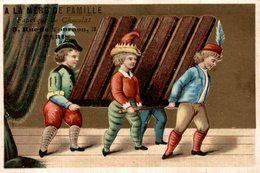 A LA MERE DE FAMILLE FABRIQUE DE CHOCOLAT  3 RUE TOURNON PARIS  Porteurs De Carre De Chocolat - Chocolat