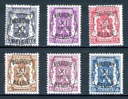 BE  PRE393 - 398   ---   Surcharge A  --  X  --  Infime Charnière  --  Etat Parfait... - Typos 1936-51 (Petit Sceau)