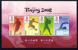 Olympics 2008 - Soccer - Boxing - ZAMBIA - S/S MNH - Ete 2008: Pékin