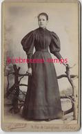 CDV Jeune Femme élégante-photo Allevy à Paris - Anciennes (Av. 1900)